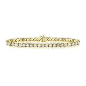 Prong set round cut 5.70 carats diamonds Tennis br